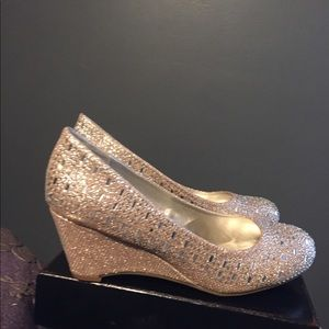 Shoes - Cute and sparkly!! Wedges .